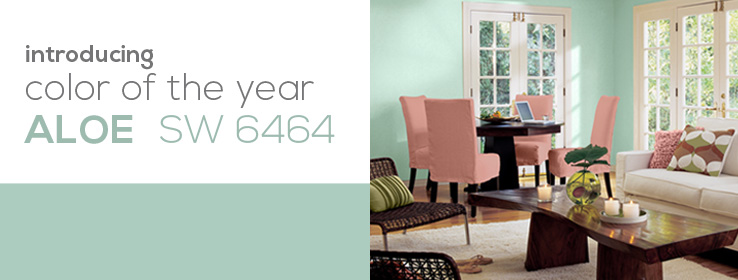 Sherwin Williams - Color of the Year 2013 - Aloe - Homelement Furniture Design