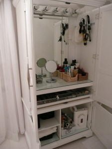 Convert an Armoire to Make-up Station - Homelement Furniture Design