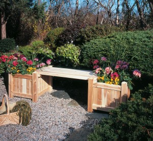 Cedar Looks Planter Box and Bench