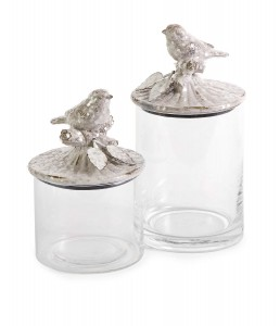 IMAX Woodland Vintage Bird Canisters