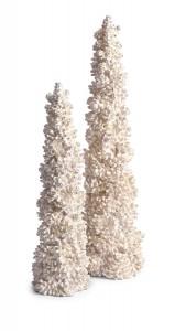 IMAX Woodland Vintage Tabletop Pinecone Trees - Set of 2