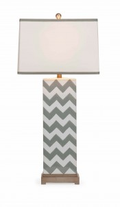 IMAX Chandler Grey Chevron Lamp