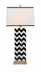 IMAX Chandler Black Chevron Lamp