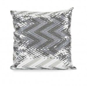 IMAX Estradin Silver Sequin Chevron Pillow