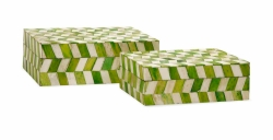IMAX Essentials Green Apple Bone Boxes - Set of 2