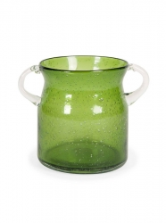 IMAX Stevenson Handblown Small Green Glass Jar