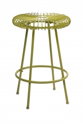 IMAX Ellie Green Metal Stool