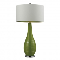 Elk Lighting D272 Table Lamp - Lime Green with Silver Accents and Chrome Base