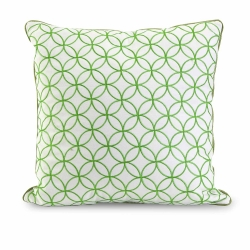 IMAX Essentials Green Embroidered Pillow