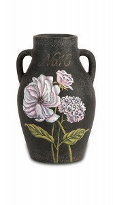 IMAX Quinn Small Handpainted Floral Vase