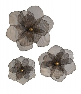 IMAX Astaire Flower Wall Decor - Set of 3