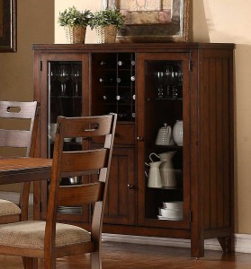 Homelegance Clayton Curio - Dark Oak