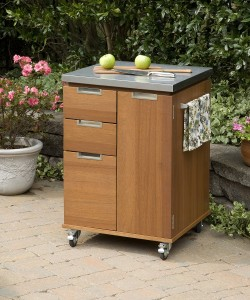 Home Styles Montego Bay Outdoor Patio Cart - Eucalyptus
