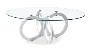 Global Furniture USA 715 Coffee Table - Glossy White - MDF Legs