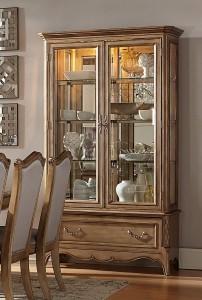 Homelegance Chambord China Cabinet - Antique Gold