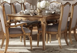 Homelegance Chambord Dining Table - Antique Gold