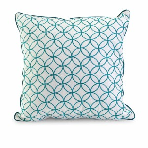 IMAX Essentials Blue Embroidered Pillow