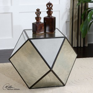 Uttermost Matty Mirrored Polygon Table
