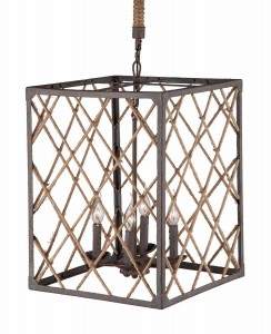 Zuo Modern Shale Ceiling Lamp - Distressed Brown/Natural
