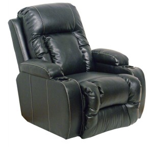 CatNapper Top Gun Bonded Leather Power Home Theater Recliner - Black