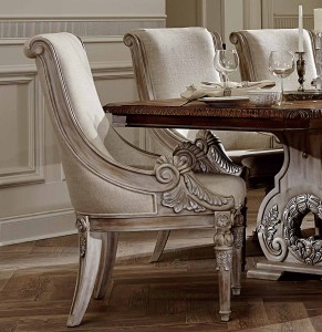 Homelegance Orleans II Arm Chair - White Wash