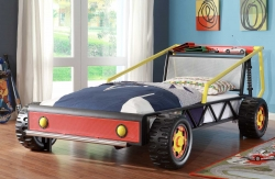 Homelegance Track Red Twin Race Car Bed - Red