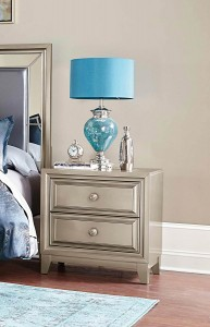 Homelegance Hedy Night Stand - Silver