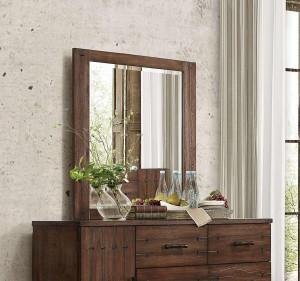 Brazoria Mirror - Distressed Natural Wood