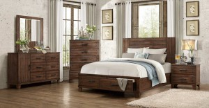 Homelegance Brazoria Bedroom Set - Distressed Natural Wood