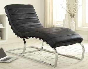Coaster 500015 Chaise - Black