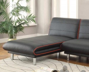 Coaster 500777 Chaise - Black/Red