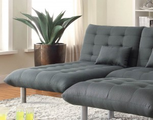 Coaster Clyde Chaise - Charcoal grey