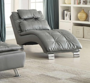 Coaster Dilleston Chaise - Grey