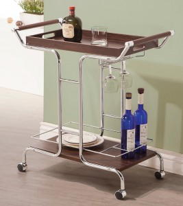 Coaster 910065 Serving Cart - Chrome