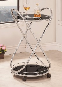 Coaster 910074 Serving Cart - Chrome