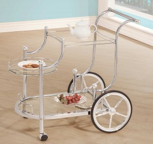 Coaster 910076 Serving Cart - Chrome