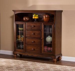 Hillsdale Pine Island Four Drawer Baker's Cabinet - Dark Pine