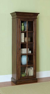 Hillsdale Pine Island Small Library Cabinet - Dark Pine