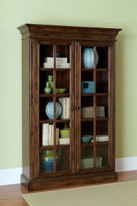Hillsdale Pine Island Large Library Cabinet - Dark Pine