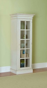 Hillsdale Pine Island Small Library Cabinet - Old White