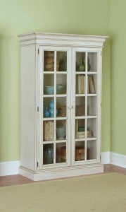 Hillsdale Pine Island Large Library Cabinet - Old White