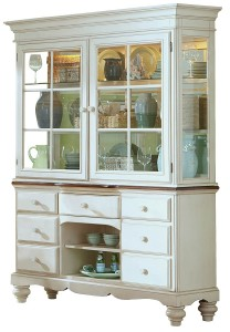 Hillsdale Pine Island Buffet and Hutch - Old White