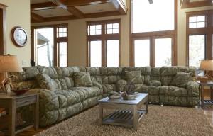 CatNapper Duck Dynasty Appalachian Power Lay Flat Reclining Sectional Sofa Set - Mossy Oak Infinity