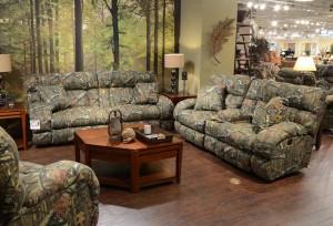 CatNapper Duck Dynasty Appalachian Power Lay Flat Reclining Sofa Set - Mossy Oak Infinity