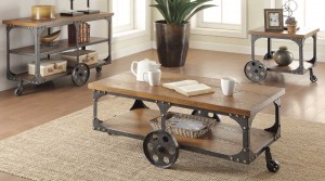Coaster 701127 Occasional Set - Rustic/Metal