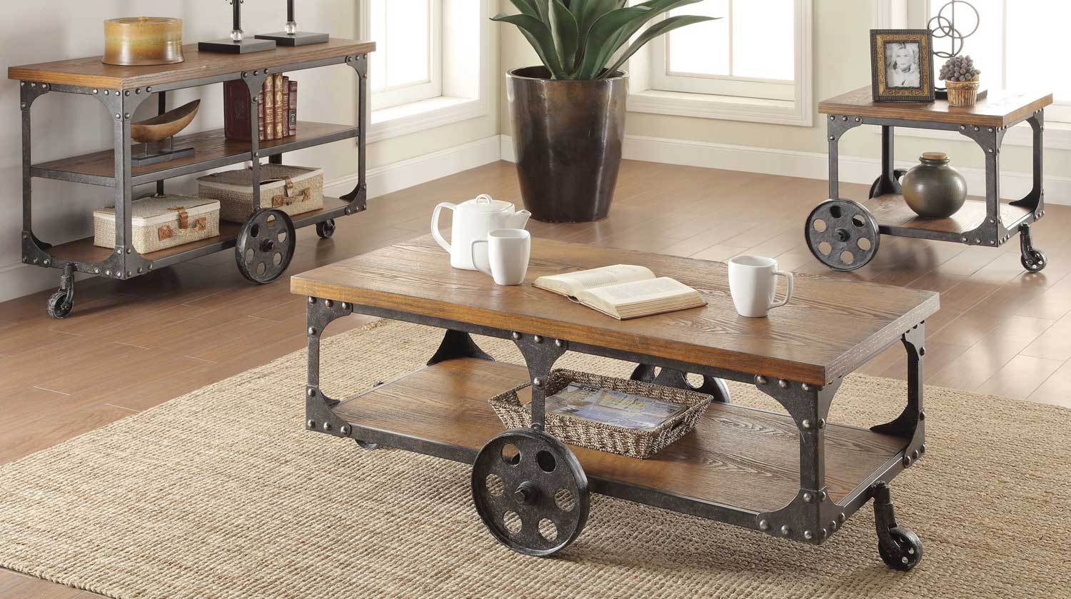 Coaster Furniture: Industrial Style 701127 Occasional Set