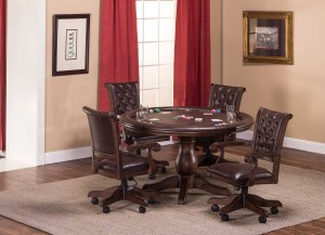 Hillsdale Chiswick 5-Piece Game Set - Brown Cherry