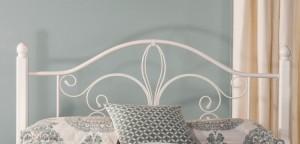 Hillsdale Ruby Wood Post Headboard - Textured White