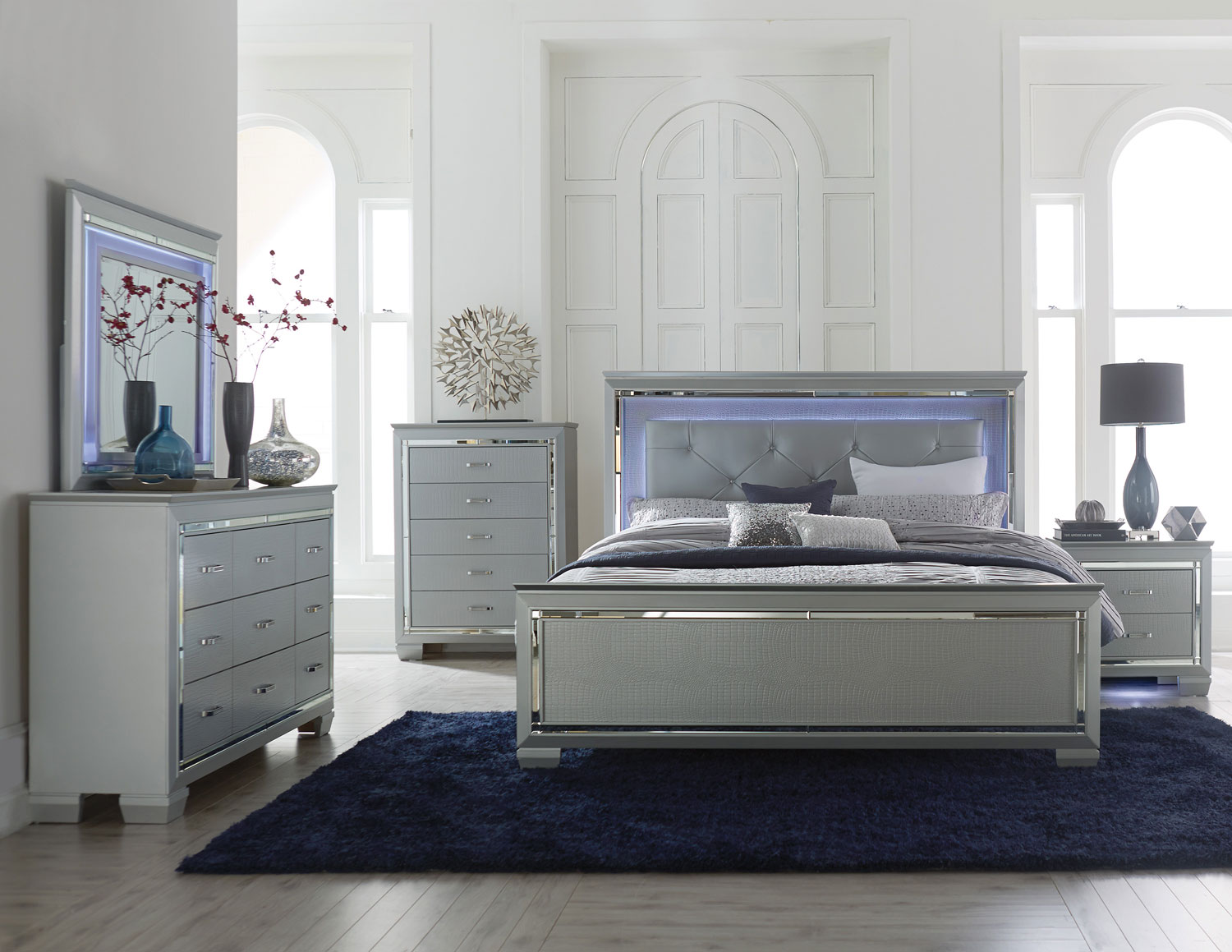 Featured Homelegance Allura Bedroom Set With Built In Led Light Home Decorating Tips Home Decor Ideas Homelement