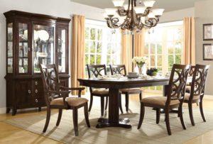 Homelegance Keegan Double Pedestal Dining Set